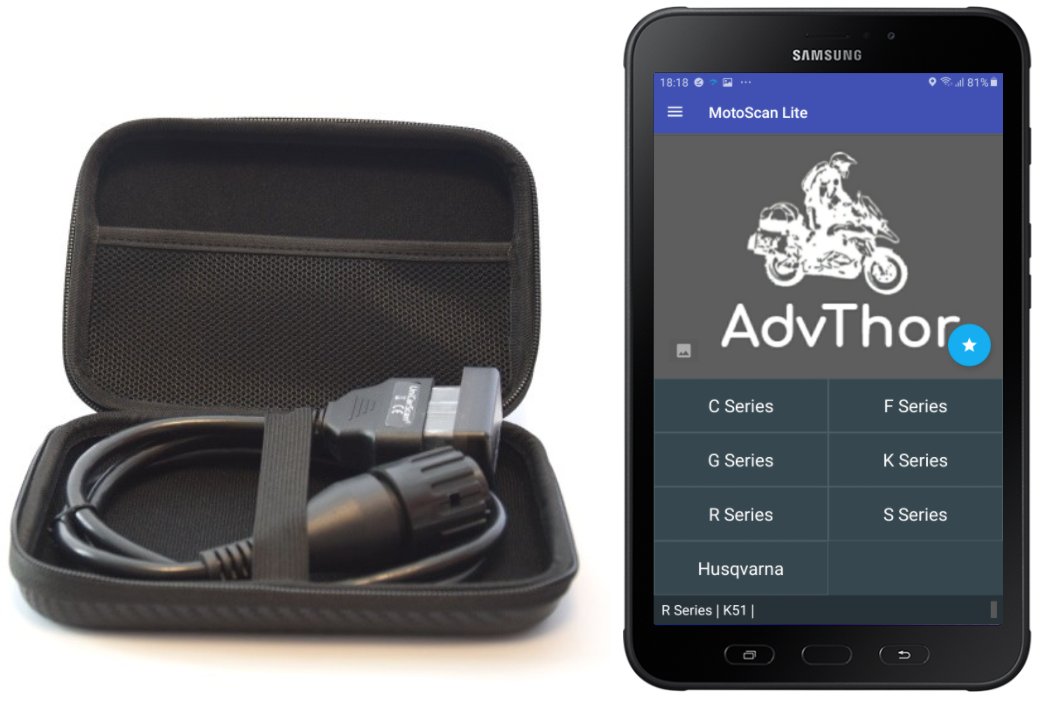MotoScan diagnoseverktøy for BMW motorsykler