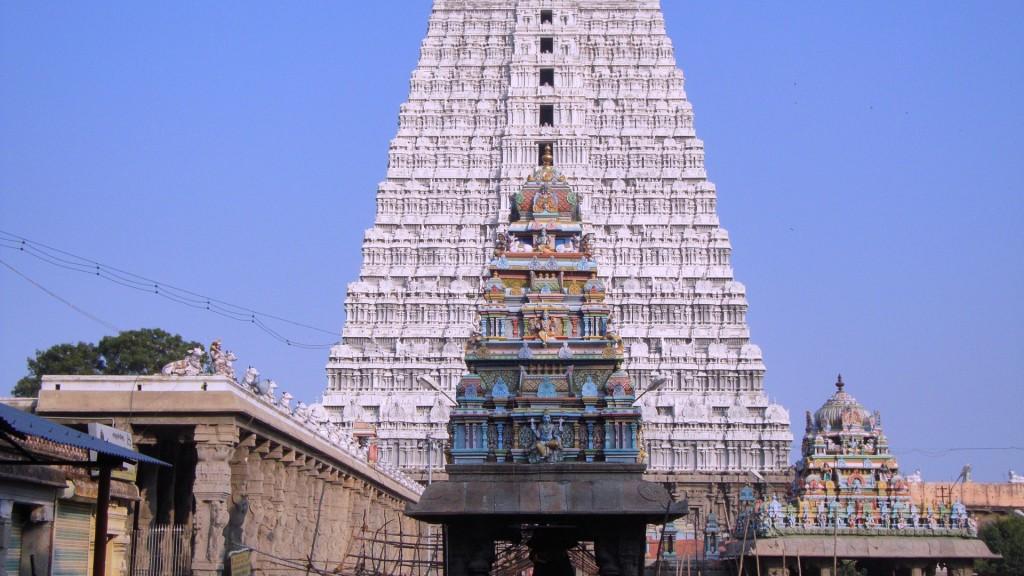 Gopuram des Meenakshi Tempels in Madurai Südindien