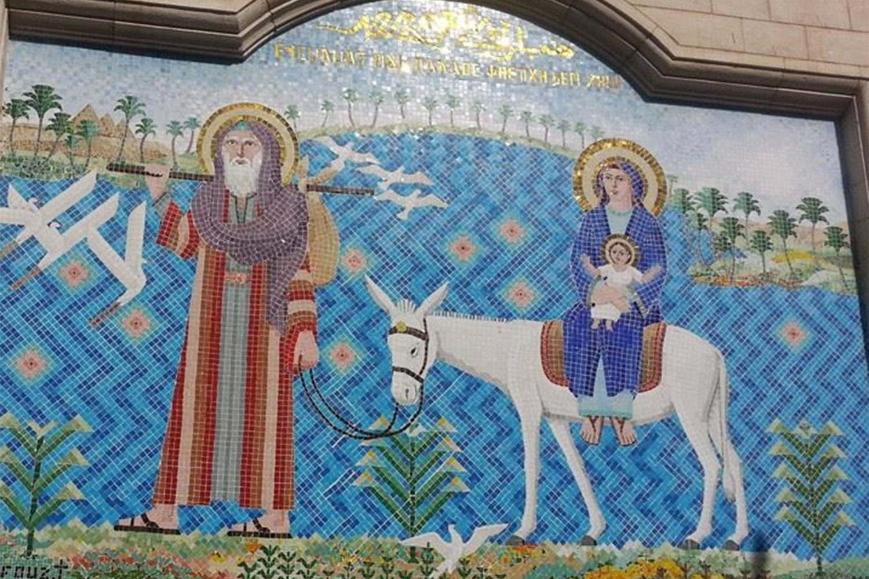 Heilige Familie in Ägypten Mosaikbild Kairo Ägypten
