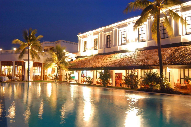 Mt. Lavinia Hotel Sri Lanka Aussenansicht Abend