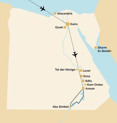 Pyramids 10 Reiseverlauf