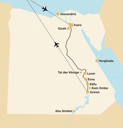 Pyramids 12 Reiseverlauf