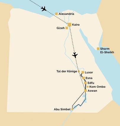 Pyramids 11 Reiseverlauf