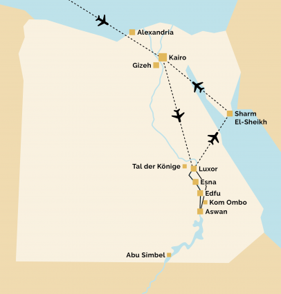Pyramids 6 Reiseverlauf