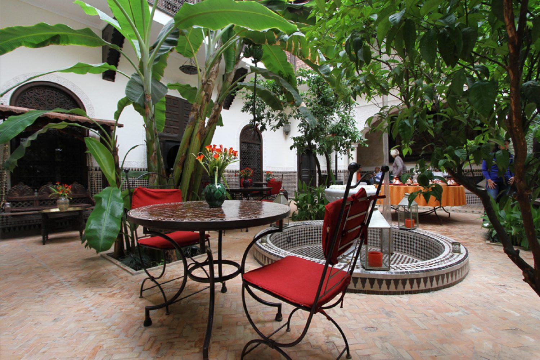 Riad Ilayka Marrakesch Marokko Innenhof