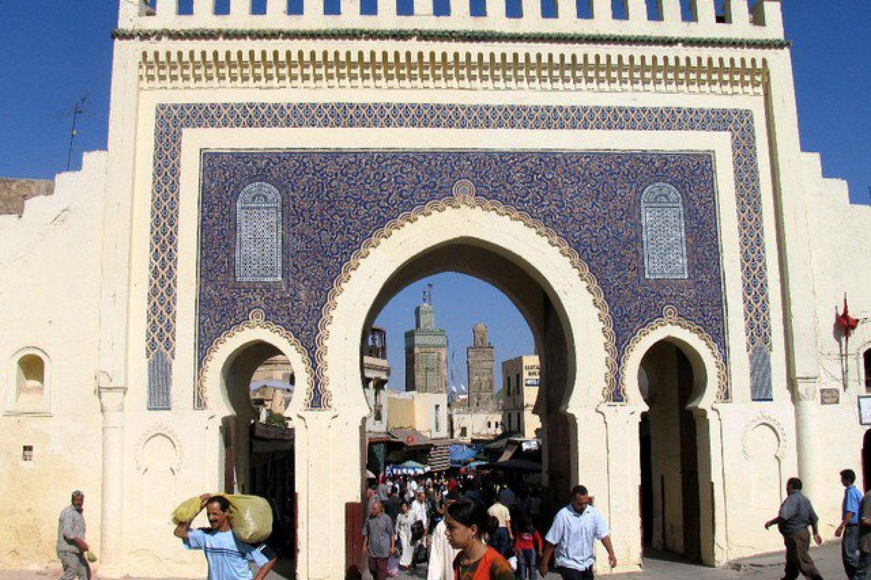 Das Blaue Tor von Fès, Marokko