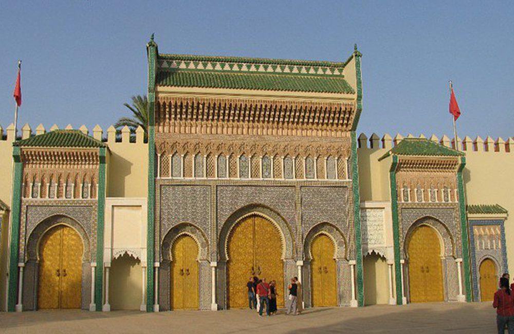 Palasttor Royal Palace of Fez Marokko