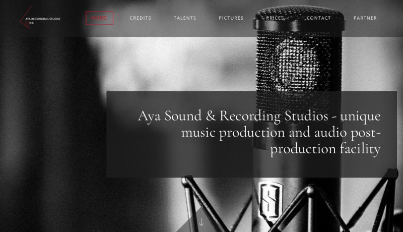 AYA RECORDING STUDIO, HK