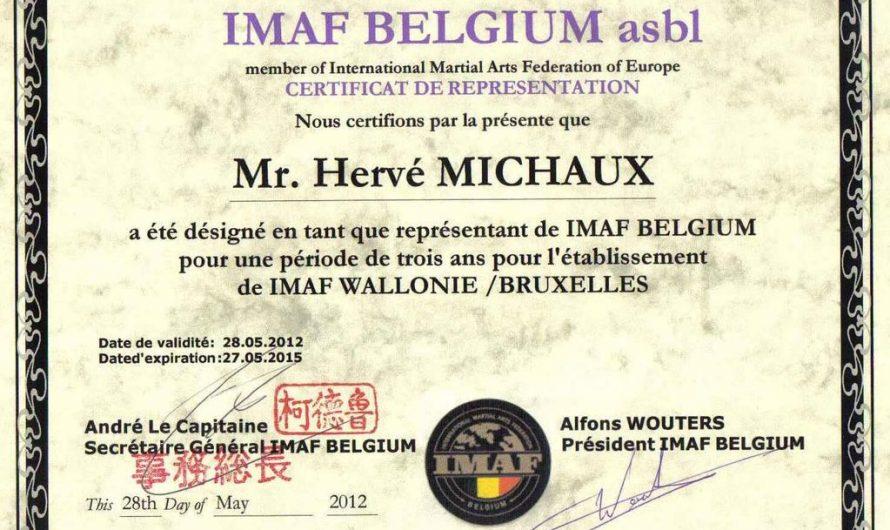 Hervé Michaux, mandaté par l'IMAF Belgium.