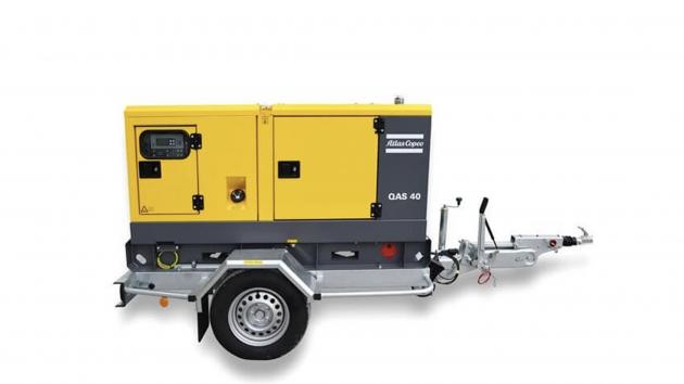 Atlas Copco QAS40 strømaggregat