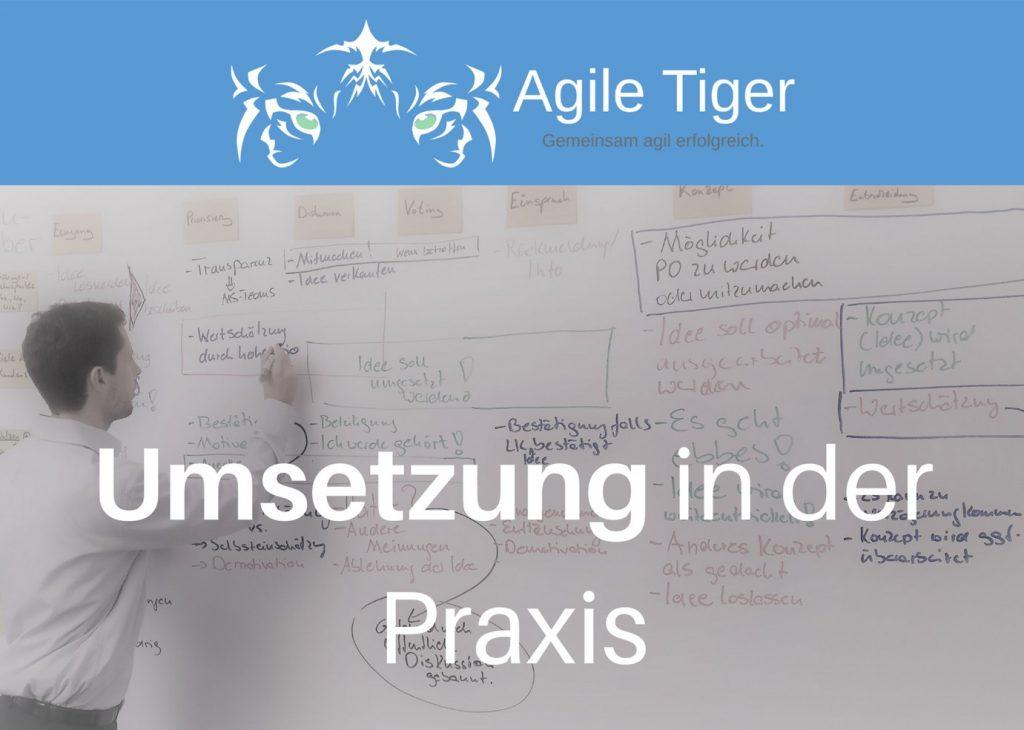 Onlinekurs Umsetzung von agilen Managementmethoden in der Praxis