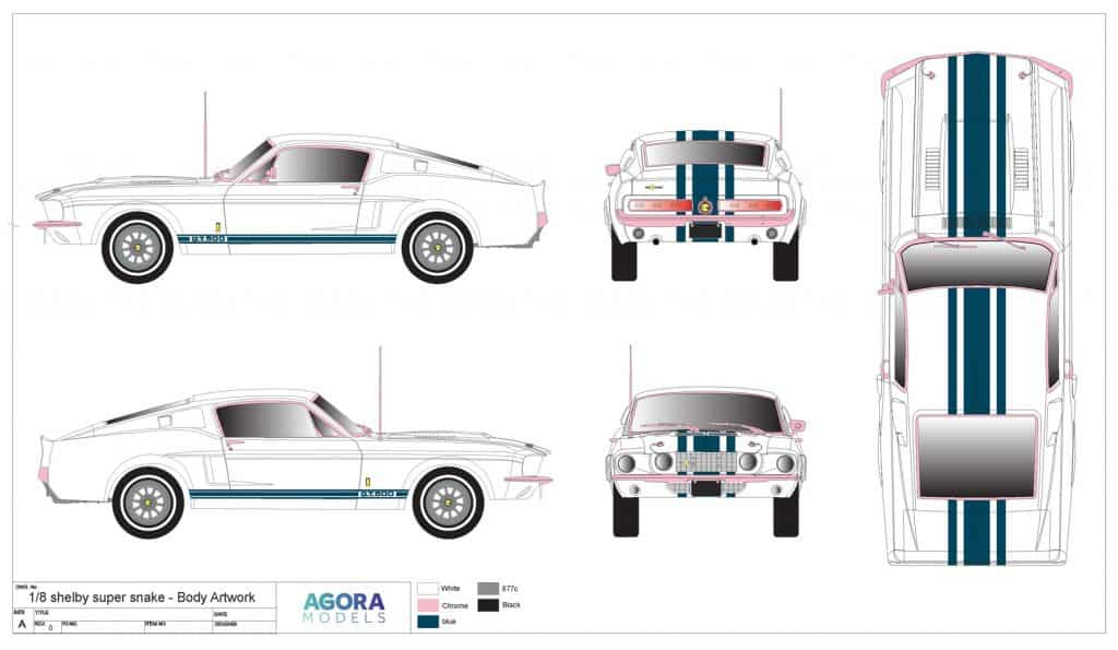 Agora Mustang Body Artwork