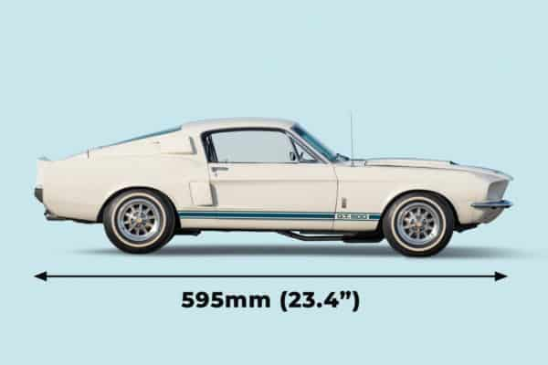 Shelby Mustang 1:8 length