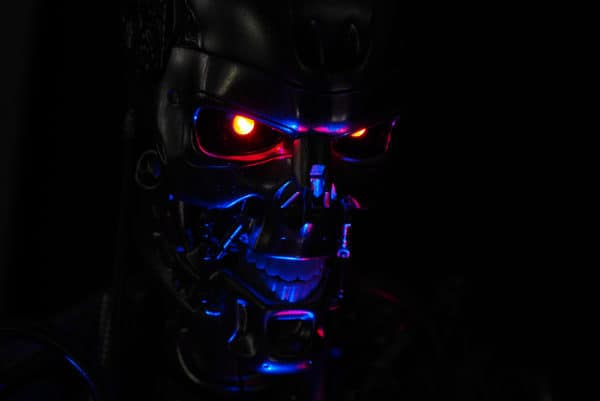 The Terminator glowing eyes