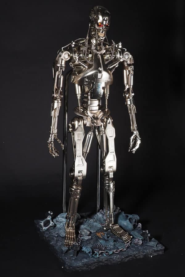 The Terminator model standing