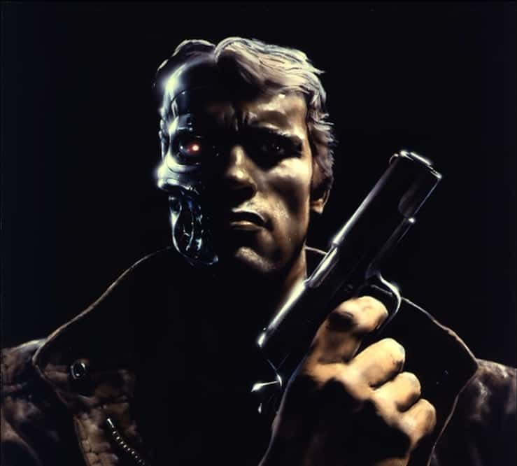 Concept art of Schwarzenegger as The Terminator