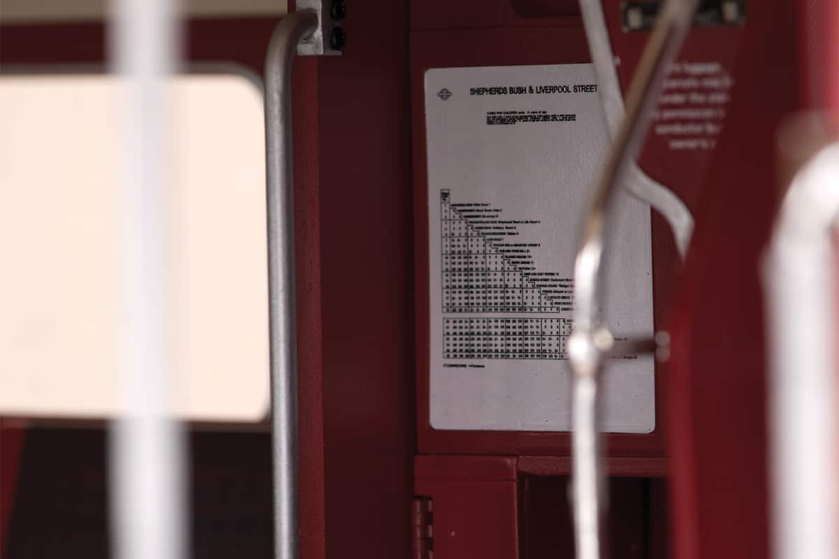 Routemaster RM 857 timetable