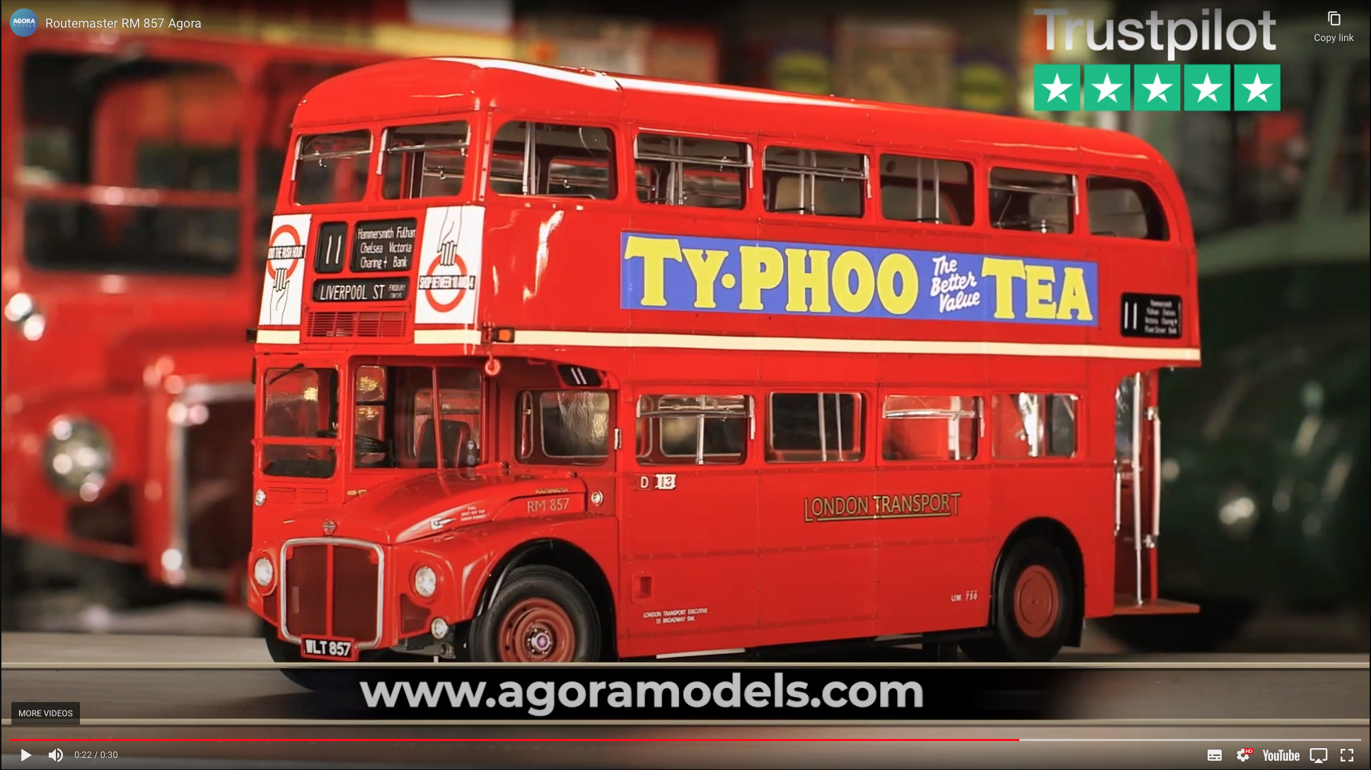Routemaster model kit 1/12 scale