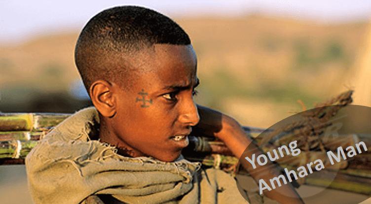 Amhara boy heading to the market
