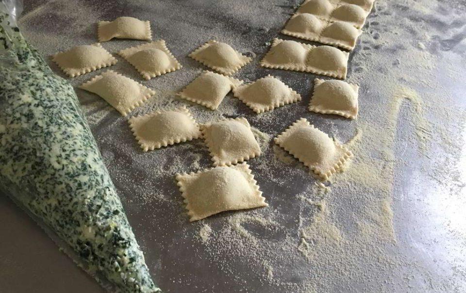 Verarbeitung von Pasta Agriturismo Il Pratone
