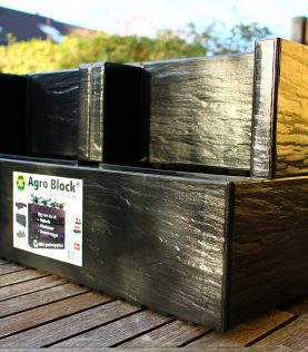 Two Agro block on a garden table