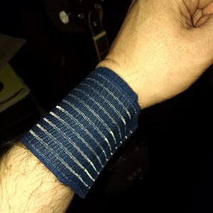 My arm in a wrist wrap