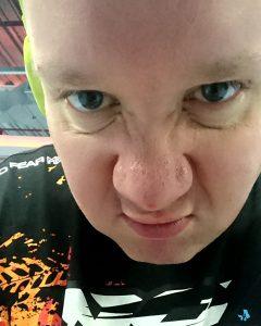 My unhappy gym face