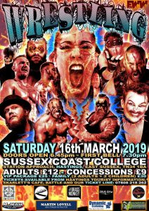 Show poster for EWW show in Hastings on 16th March 2019