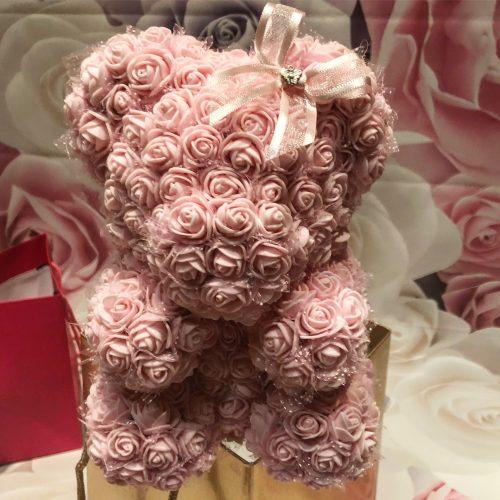 pink flower bear