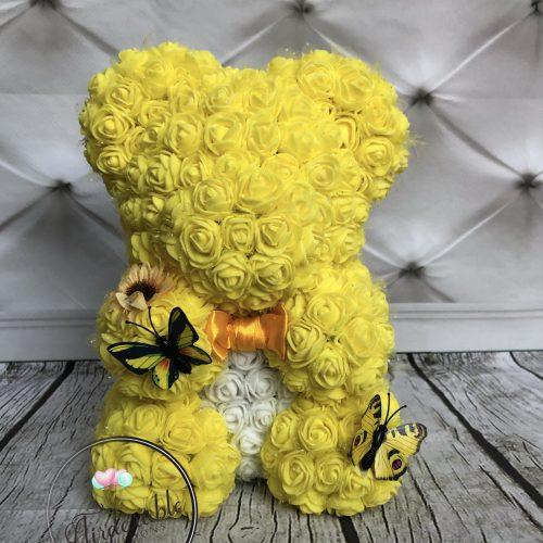 yellow rose bear