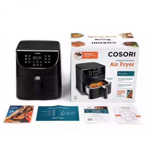 Cosori Premium airfryer innhold - svart