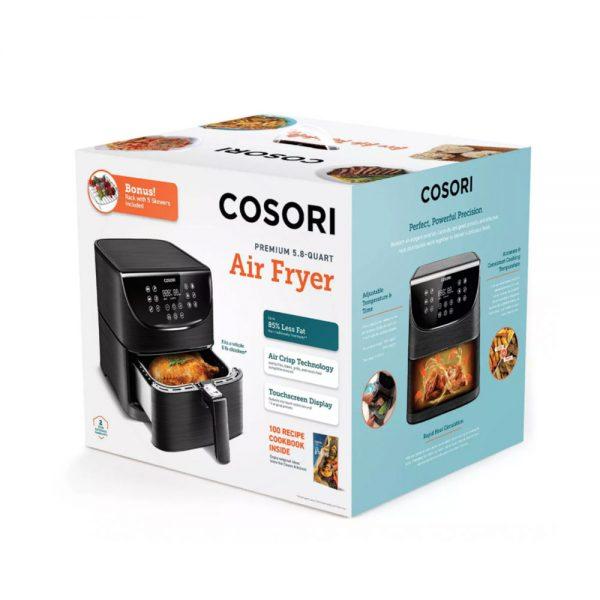 Cosori Premium airfryer innpakning - svart