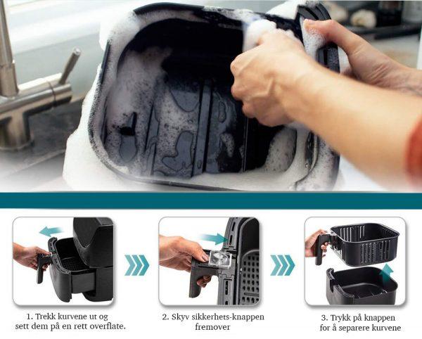 Cosori Premium airfryer kurvene