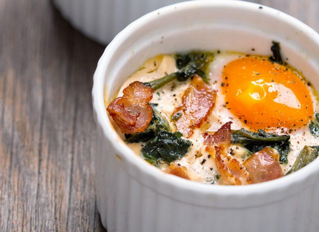 airfryer bakt egg i kopp