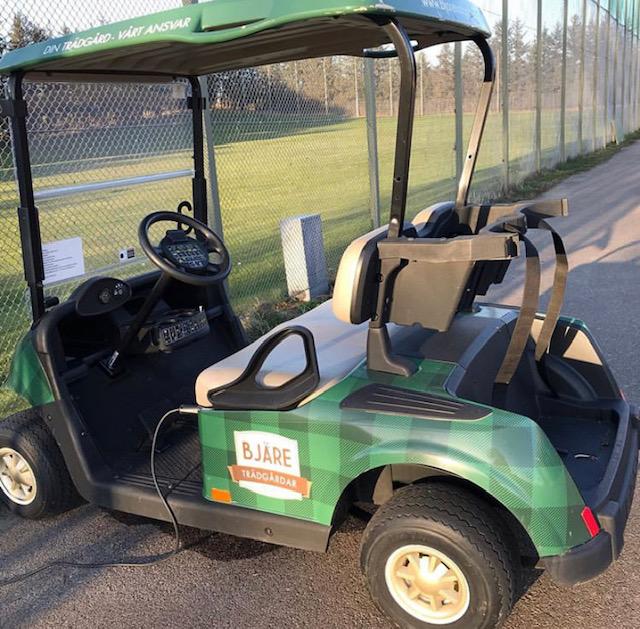Golfbilar tillåtna