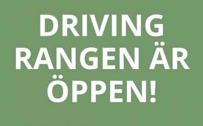 Driving rangen öppen
