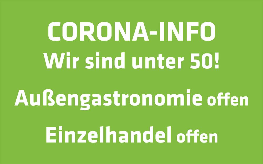 Corona-Update: Wir sind unter 50!