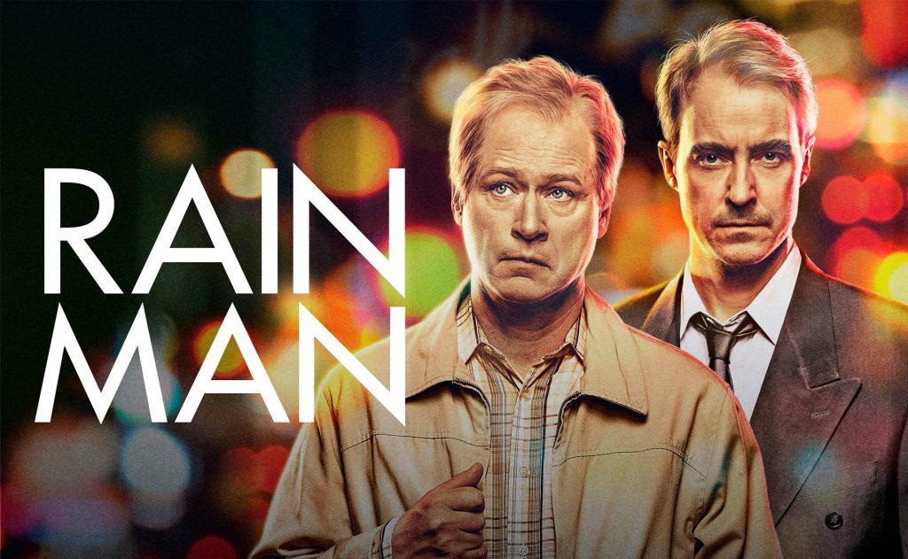 Robert Gustavsson och Jonas Karlsson med texten Rain Man i vitt till vänster i bild. Båda ser allvarliga ut.