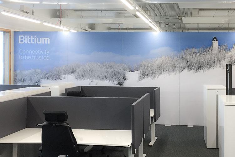 AKUprintti akustiikka seinäsermit Bittium Oulu