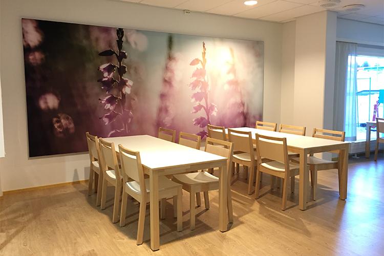 AKUprintti akustiikka seinä Caritas Rovaniemi