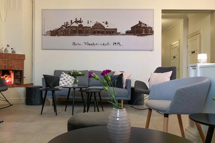 AKUprintti de Gamlas Hem Oulu akustiikka paneeli seinän