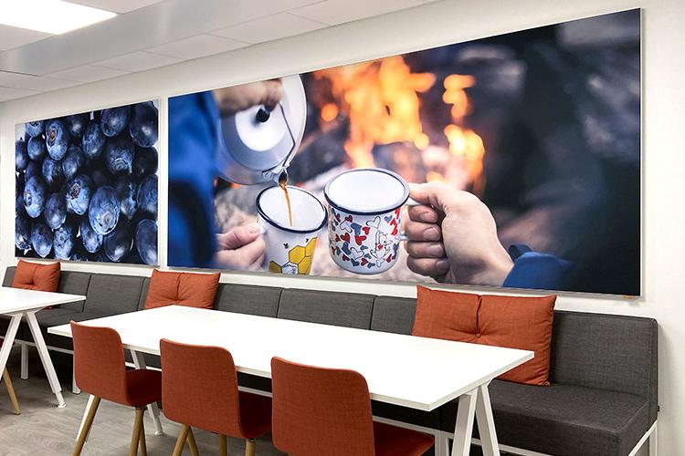 AKUprintti - Kesko Oulu akustinen valokuva seinäpaneeli