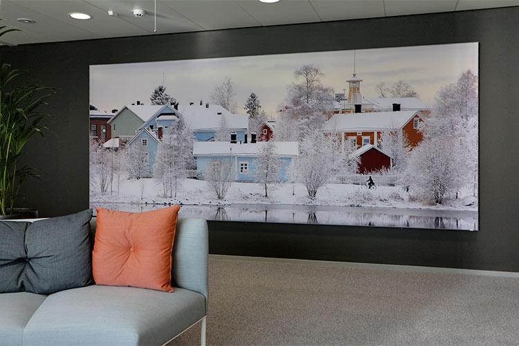 AKUprintti - Vero Oulu - Pikisaari akustinen seinä