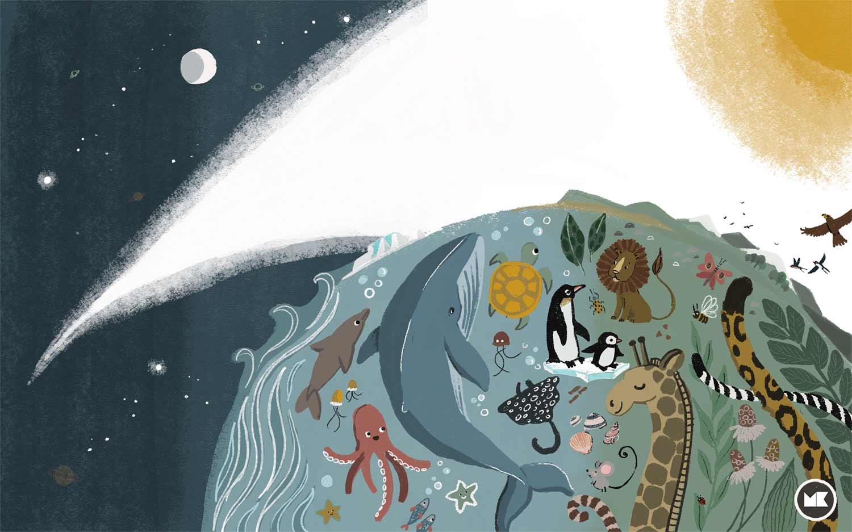 AKUprintti - Marieke Ten Berge - Kuvittaja - Eläimet Ja Maailma