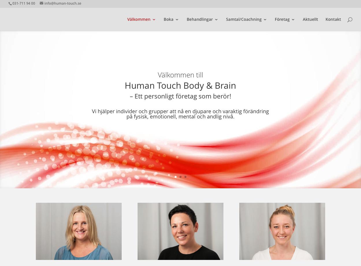 Hemsida till Human Touch Body & Brain