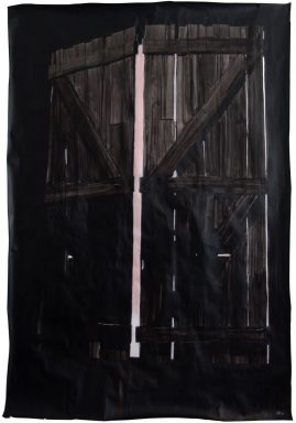 GATE, Indian ink & acrylic paint on paper, 2.22m x 1.50m, 2010, Alexandra Crouwers
