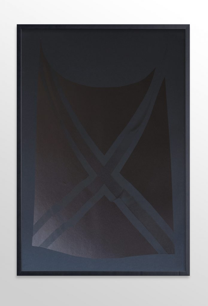 Alexandra Crouwers. Pirates [I], flatbed inkjetprint on 160 grms black Canson MI-Teintes paper, 2016