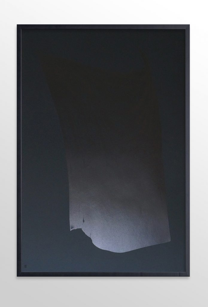 Alexandra Crouwers. Pirates [II], flatbed inkjetprint on 160 grms black Canson MI-Teintes paper, 2016