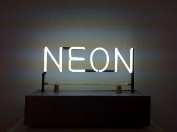 'Neon', Joseph Kosuth, 1965.