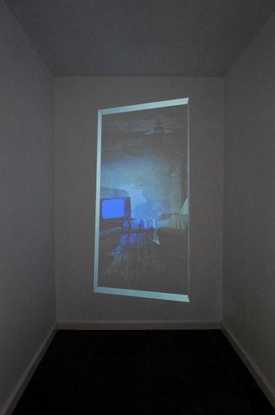 'TV Sky', 2013, 'Impact van het hoogst onwaarschijnlijke', Black Swan Gallery, Brugge. Curated by Els Wuyts. 2018. Alexandra Crouwers.